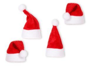 Alsino 4-er Set Mini Weihnachtsmütze Eierwärmer weihnachten Dekoration von Flaschen, Stuhlecken 133