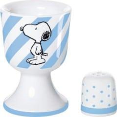 United Labels 0106879 - Best of Snoopy-Classic Eierbecher mit Salzstreuer Porzellan in prämierter Geschenkverpackung