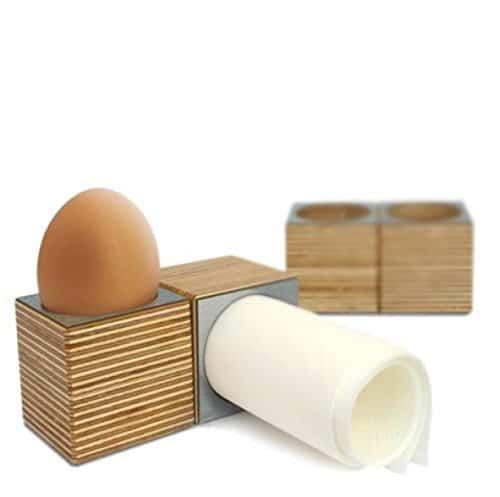 2er set eicube eierbecher und serviettenringe edelstahl eierbecher. Black Bedroom Furniture Sets. Home Design Ideas