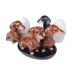 Dackel Eierbecher Set für Hundeliebhaber