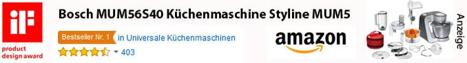 Bestseller Küchenmaschine Bosch