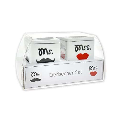 """GRUSS & CO 43615 Eierbecher-Set """"MR & MRS"""""""