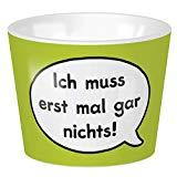 Sheepworld - 45378 - Eierbecher, Schaf, Ich muss erst mal gar nichts!, 4cm x 5cm, Porzellan, spülmaschinengeeignet