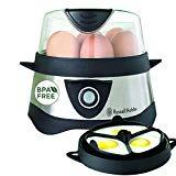 Russell Hobbs 14048-56 Eierkocher Cook@Home, 1-7 gekochte Eier, 3 gedämpfte Eier, 365 Watt, Edelstahl/schwarz