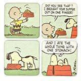 Die Peanuts - Comic Untersetzer 4er Set - Snoopy & Charlie Brown